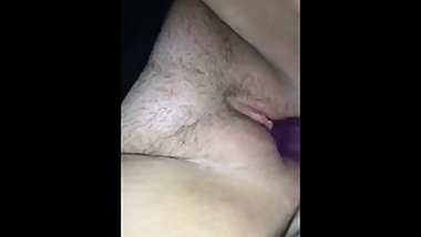 Girlfriend pleases herself with dildo pt.2