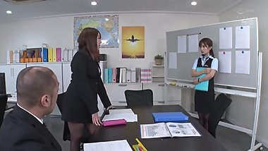 Hot Flight Attendant Gang Banged Minami Kojima